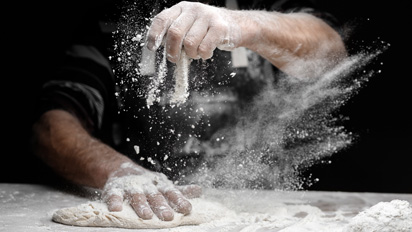A Pizza dough packed with flavour